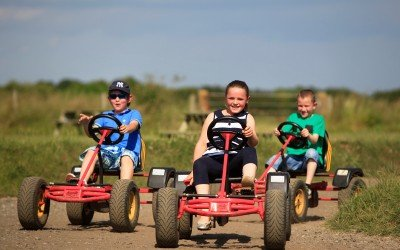 Walby Farm children go karting