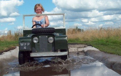 Earn your mini Land Rover driving licence